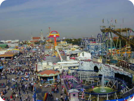 Munich City Guide. Oktoberfest from the Ferris Wheel