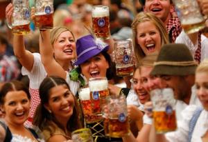 A good time at the Munich Oktoberfest