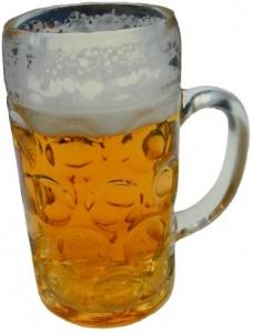 A Maßkrug or one litre beer glass