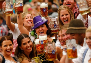 A good time at the Munich Oktoberfest