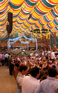 Typical Oktoberfest beer tent